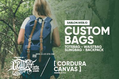 Bikin Custom Tas Dengan Berbagai Pola, Mulai Waistbag Hingga Backpack