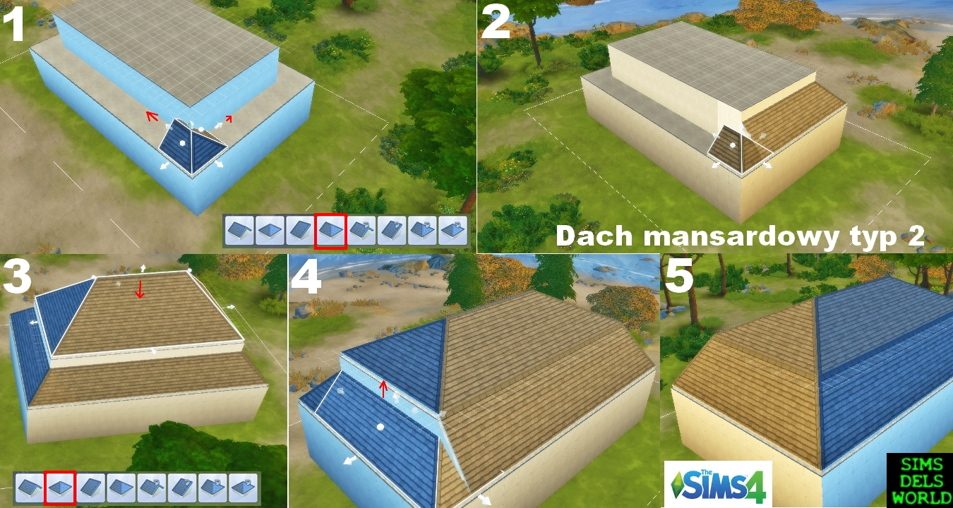 Simsdelsworld pl tutorial budujemy dachy z o one w for Sims 4 dach bauen