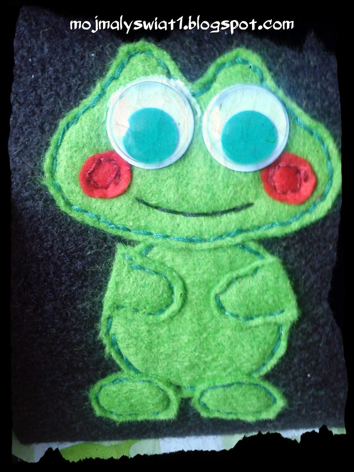 żabka z filcu etui