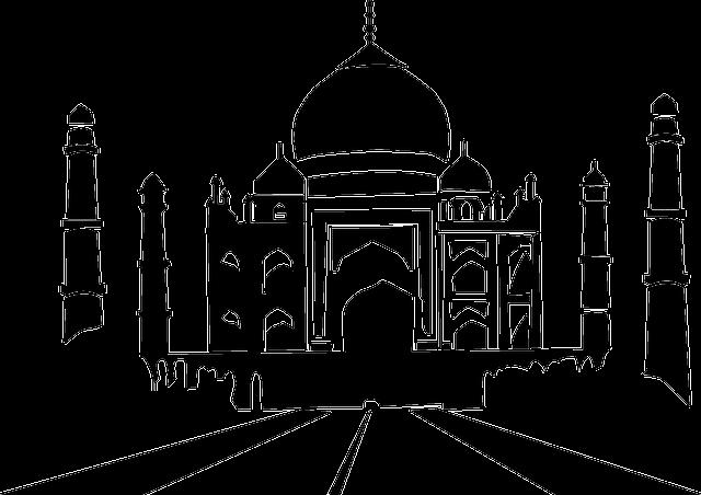 black Taj Mahal