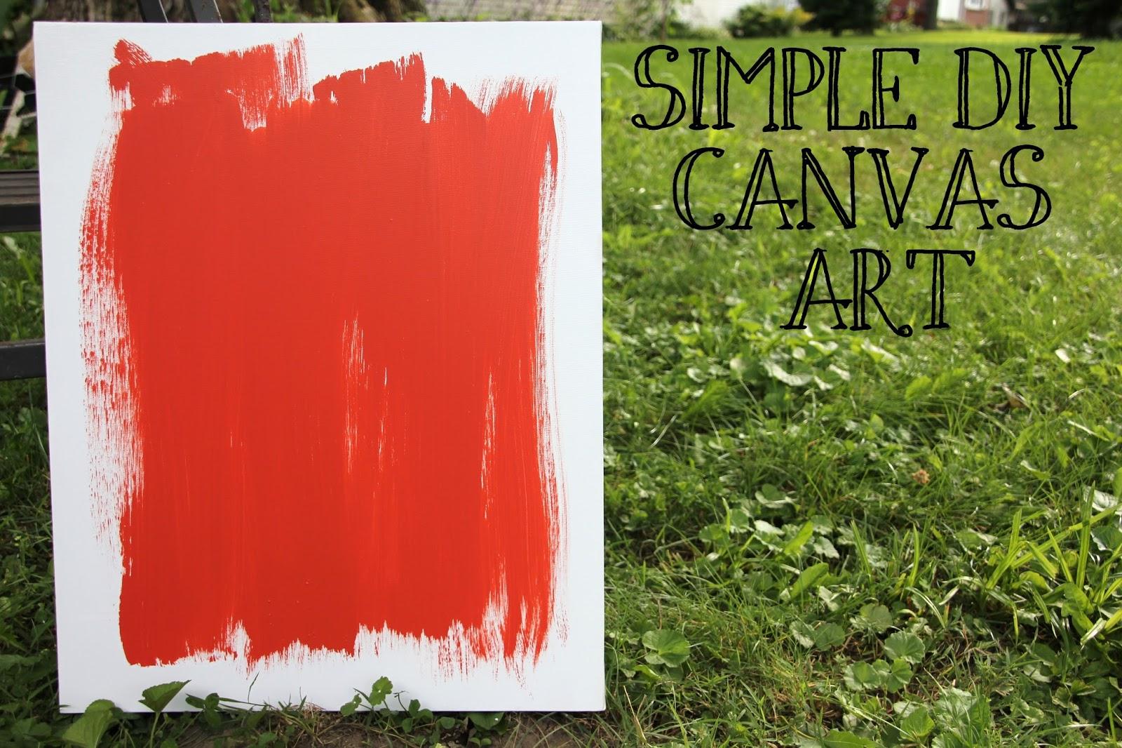 lovely little life simple diy canvas art