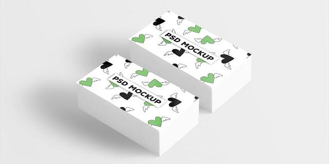 تحميل بطاقة أعمال بيضاء بصيغة psd