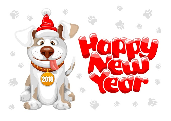 2018 year of the dog free Vector
