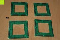 Loch grün: Playbees 100 Teile Magnetische Bausteine Set für 2D und 3D Form Konstruktionen, Regenbogenfarben Magnetspielzeug, Baukasten Magnetspiel, Magnetbausteine