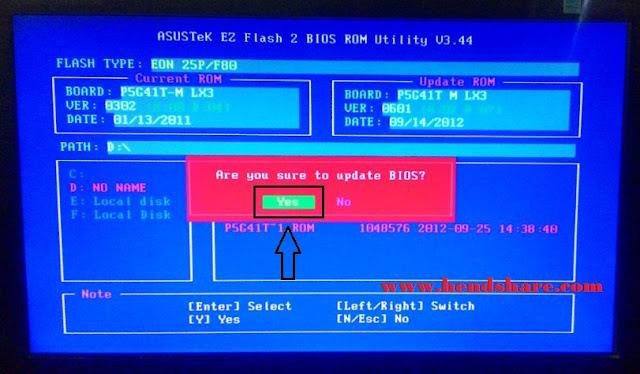 Cara Mudah Update Bios Motherboard Asus P5G41T-MLX3