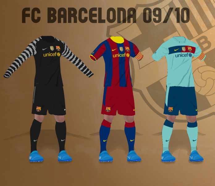 PES 2017 FC Barcelona 09/10 Kits by MRI_20Mods