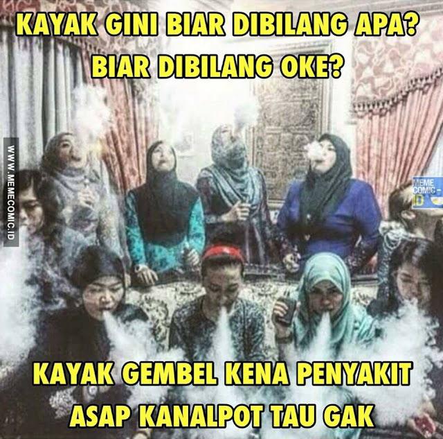 Meme Kids Jaman Now main rokok sama vave