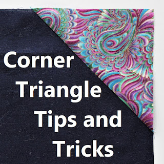 CORNER TRIANGLES-STITCH AND FLIP-QUILT TUTORIALS-HOW TO QUILT