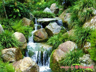 how to build a garden water fall
