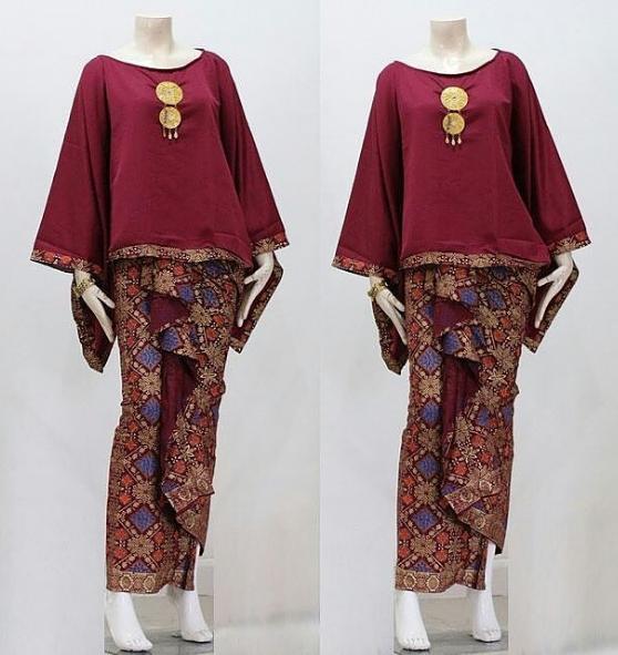 Gambar Model Baju Gamis Batik Remaja Atasan Polos Couple Trendy