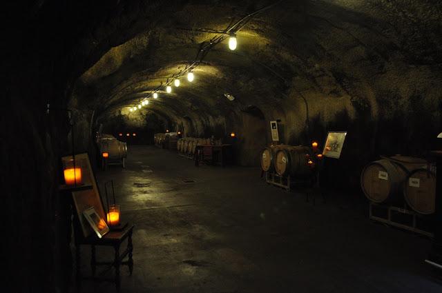 Inside the cave Mondavi wine tasting experience napa valley