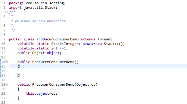 Welcome to the JAVA WORLD!!!: Producer Consumer Problem using