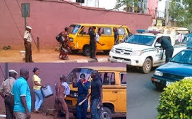 Lagos Driver Goes Wild, Takes Off His Clothes to Escape Arrest