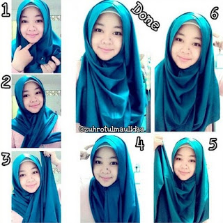 tutorial hijab pashmina pesta