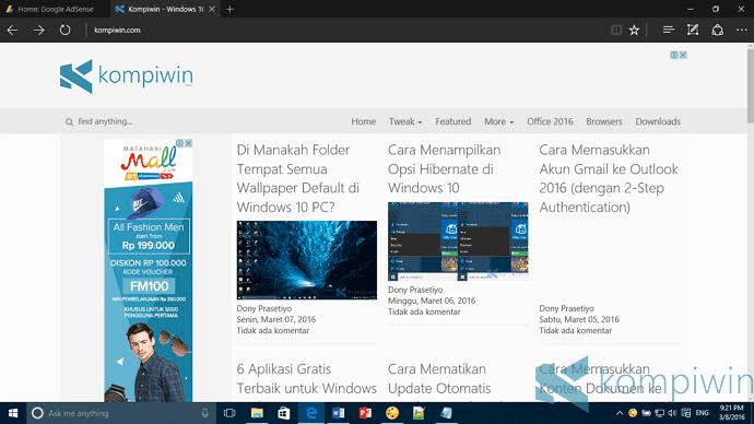 microsoft edge di windows 10