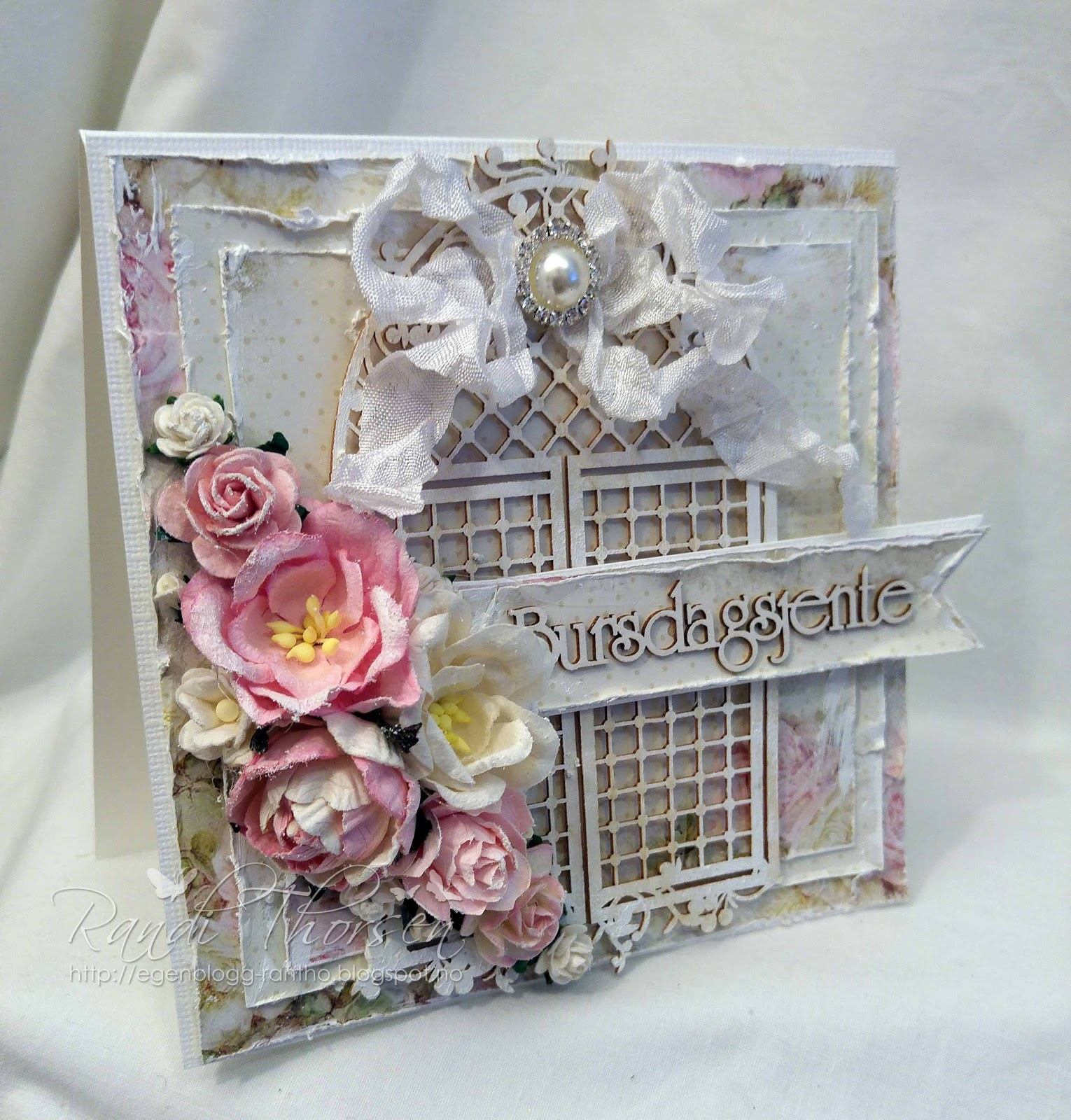 Wild Orchid Crafts: Shabby Chic Card again