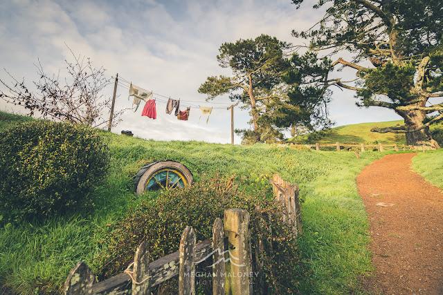 Hanging out the washing at Hobbiton