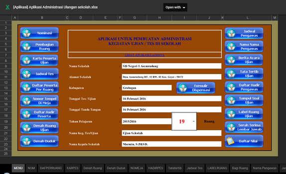 Aplikasi Pembuat Kelengkapan Administrasi Ujian Sekolah