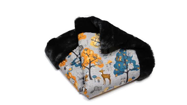 Меховое одеяло для прогулки 60 х 80 см- одеяло в коляску, подарок малышу