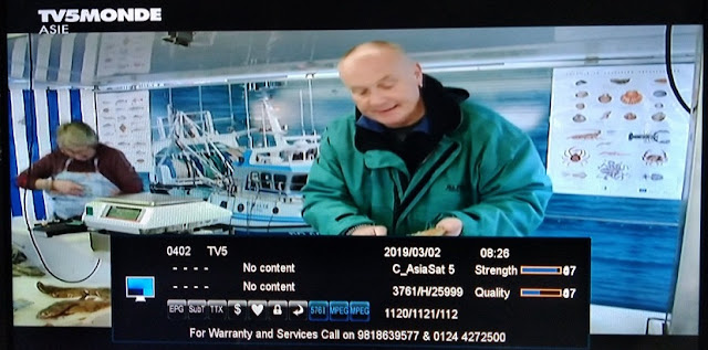 TV5Monde Asia Channel Free to air from Asiasat 7 Satellite