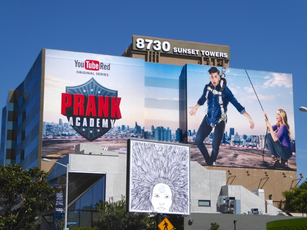 Giant Prank Academy YouTube Red billboard