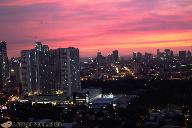 Makati City Night View from City Garden Grand Hotel