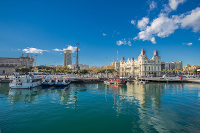 Barcelona Port by Laurence Norah