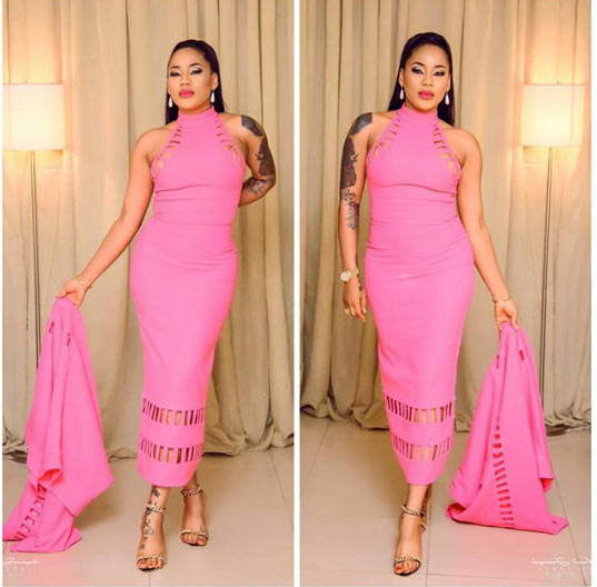Photos: Actress Toyin Lawani sizzles in pink