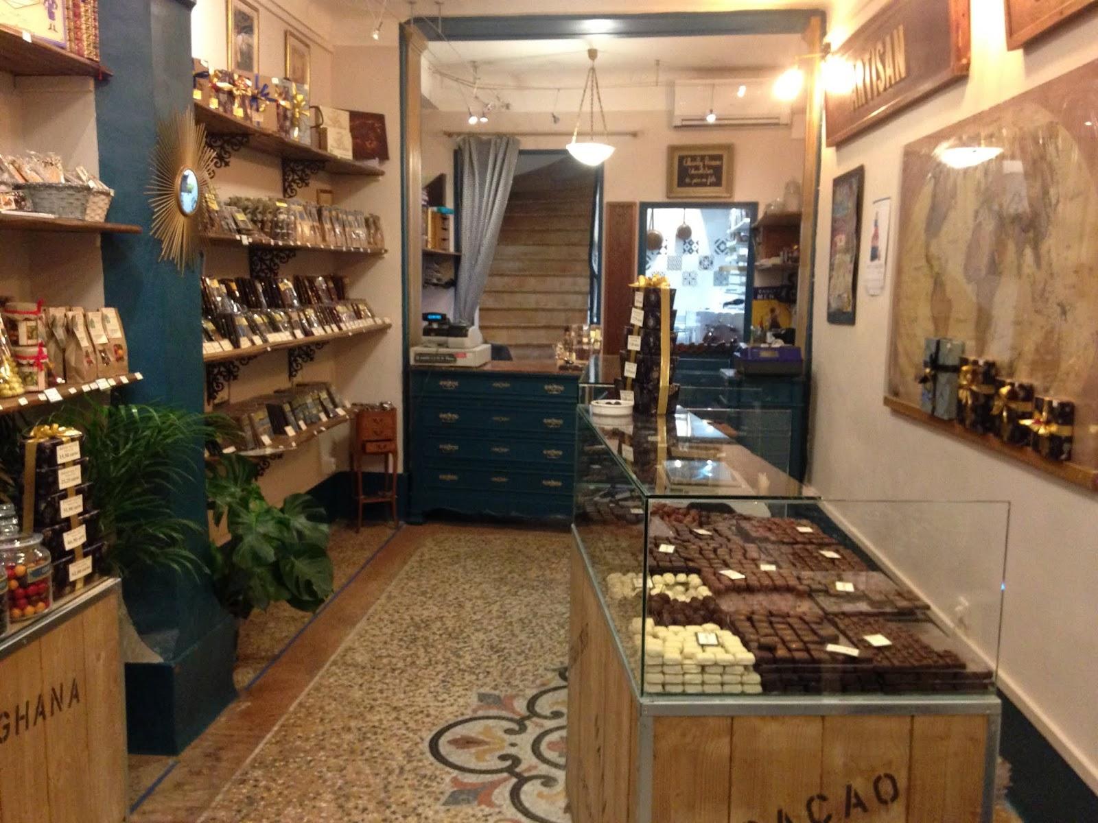 Chocolaterie la tabletterie