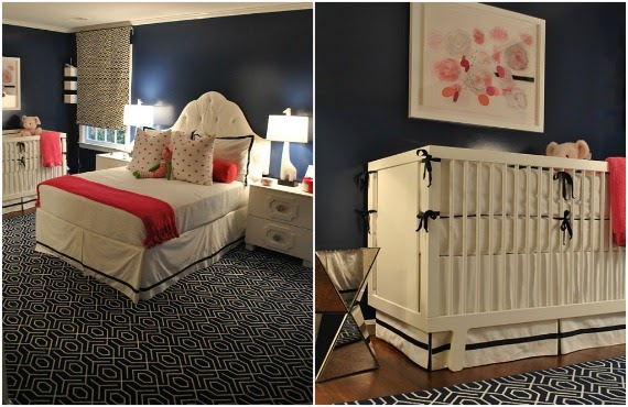 Delorme designs navy and pink - Bedroom ideas for twenty somethings ...
