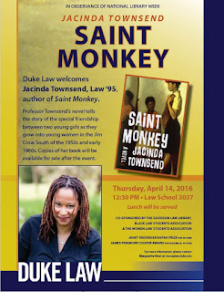 Poster for Jacinda Townsend Alumni Author event