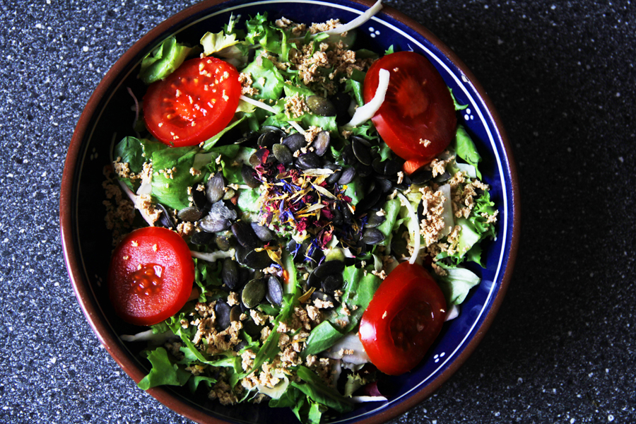 salat vegan low carb healthy