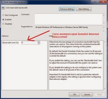 Cara Mempercepat Koneksi Internet  di PC