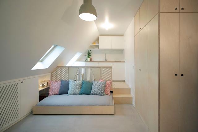 Decor compact, practic și modern într-o garsonieră de numai 15 m²