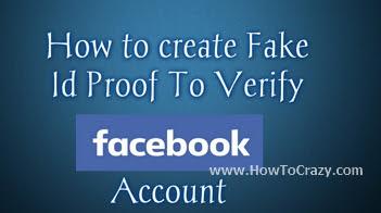 Fake ID Generator For Facebook ID Verification Latest Trick 2016