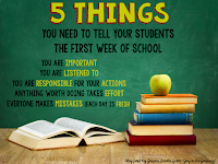 What you say in those first few days of school will leave a lasting impact on your students. Here are five things every student needs to hear.