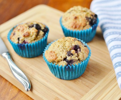 Blueberry Muffins with Quinoa & Wheatgerm from Everyday Healthy Recipes