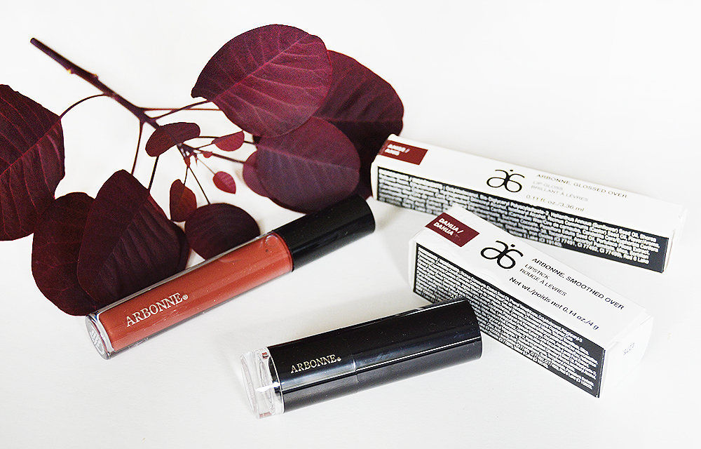 Arbonne lipstick lip gloss review