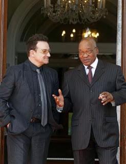 Bono se reune con Jacob Zuma