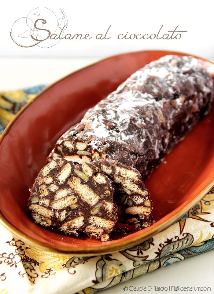 Salame al cioccolato (senza uova, senza burro)