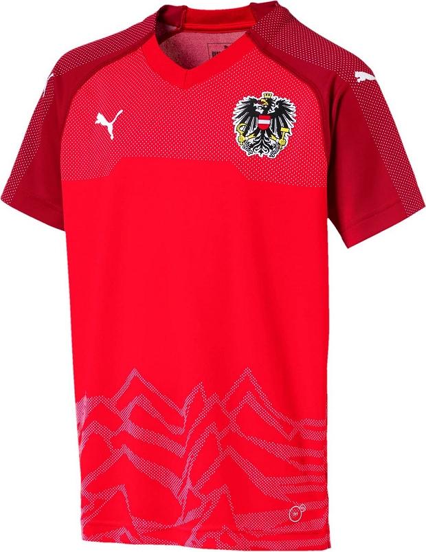 Puma lança a nova camisa titular da Áustria - Show de Camisas 507b968836c0b