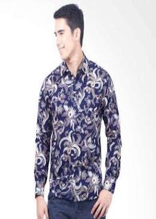 Jual Baju Batik Pria Lengan Panjang