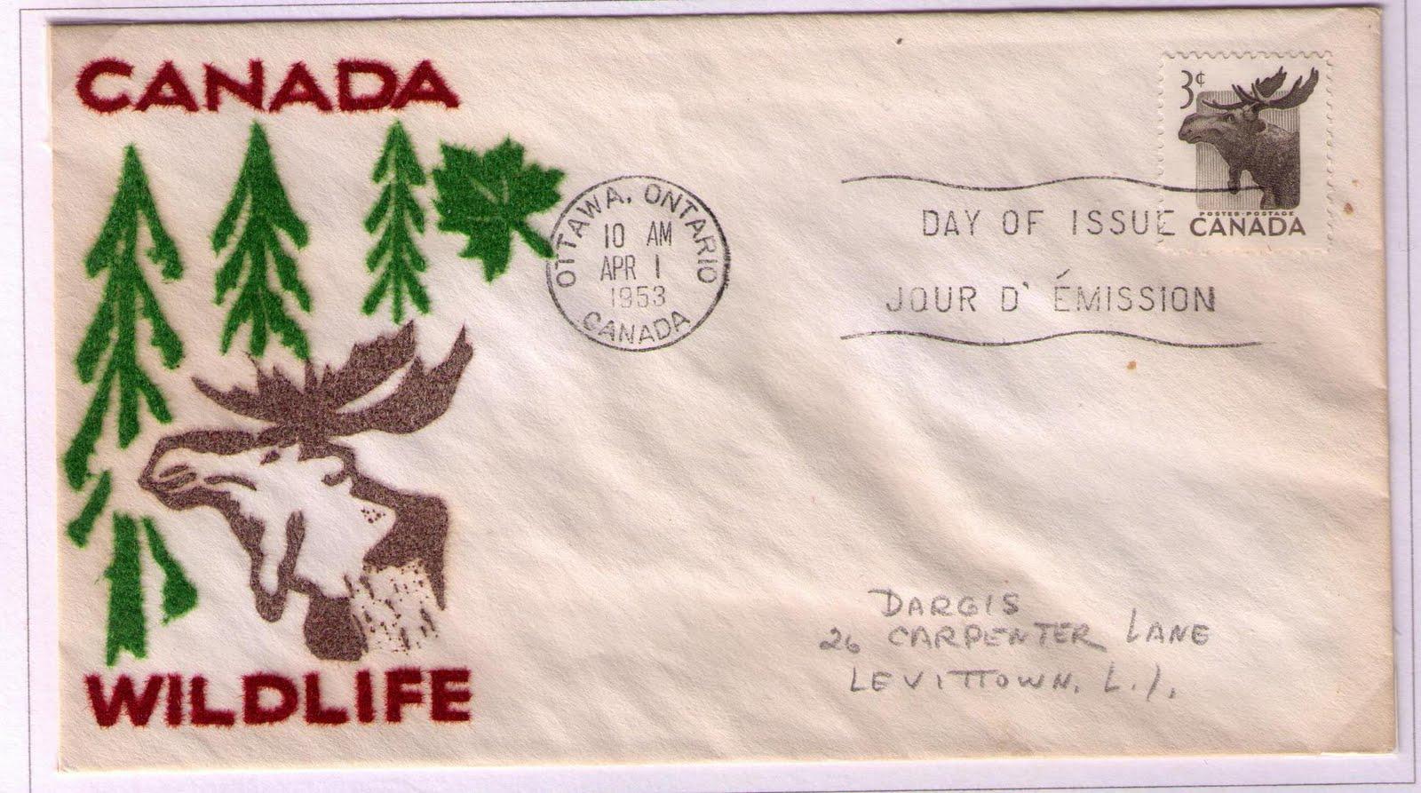 Postal History Corner 1953 1957 Canada Wildlife Series