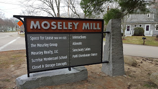Moseley Mill sign along RT 140