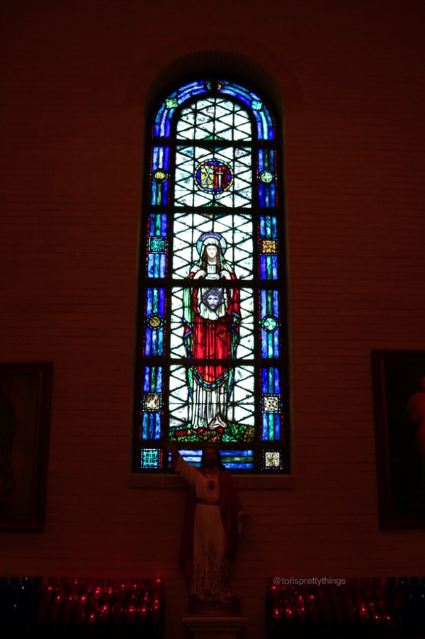 Stained Glass within a church - Virginia - Tori's Pretty Things Blog