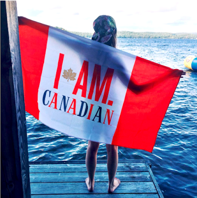 molson canadian flag lake i am canadian