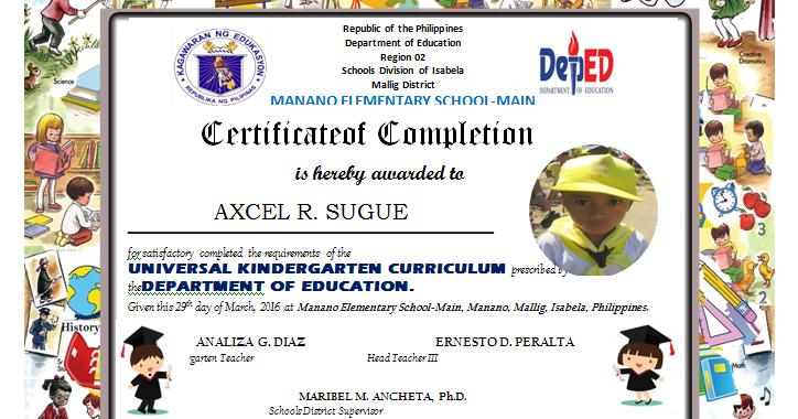 Kindergarten diploma editable deped lps yadclub Choice Image
