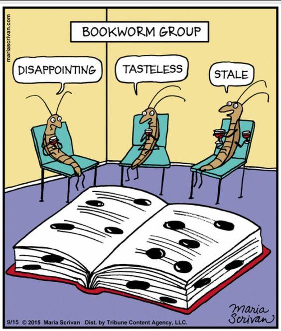 bookworm cartoon fanfare mystery