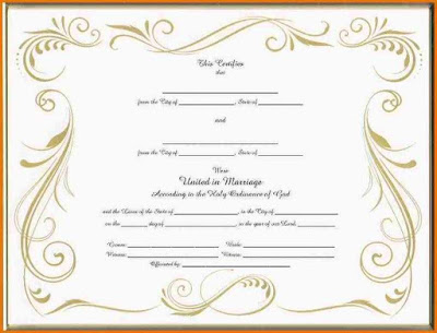 Certificate Templates Sample Marriage Certificates - marriage certificate template