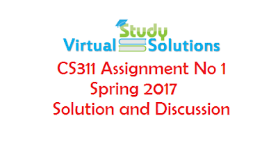 CS311 Assignment No 1 Spring 2017 Solution and Discussion